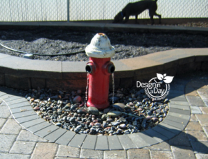 Water Feature hydrant for dog friendly landscape