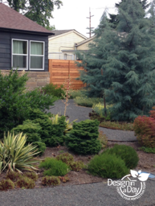 Modern landscape design in Kenton neighborhood Portland Oregon