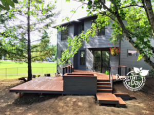 After modern deck design in West Slope Portland Oregon