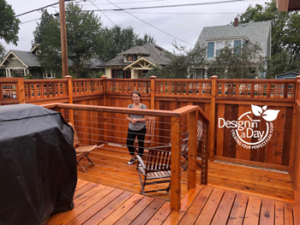 New deck design makes best use of space in small Sabin neighborhood property in NE Portland.