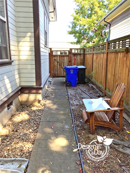 Before photo of tiny urban back yard in Buckman Neighborhood