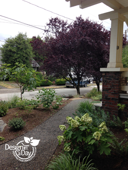 Sloped Front Yard Landscape Design For Foster Powell Neighborhood Home Landscape Design In A Day