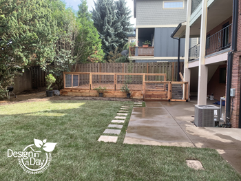 After photo of modern landscape design in Mt. Tabor neighborhood of Portland Oregon