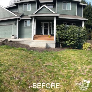 Vancouver low-maintenance front yard landscape design before picture