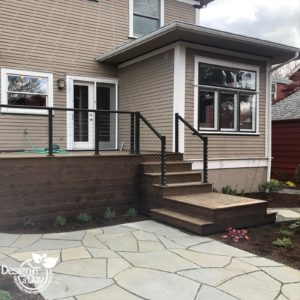 Updated patio hardscape gets creative in Laurelhurst neighborhood, Portland, Oregon