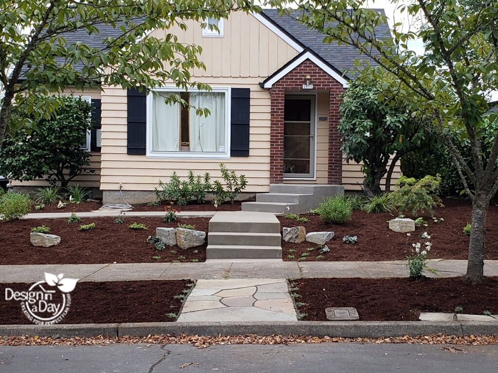 Hardscape Landscaping Design creates attractive easy access in Beaumont neighborhood