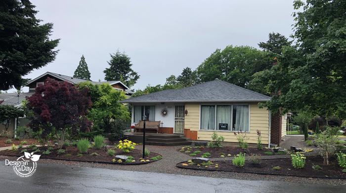 NE Portland drought tolerant garden design transforms entry landscape