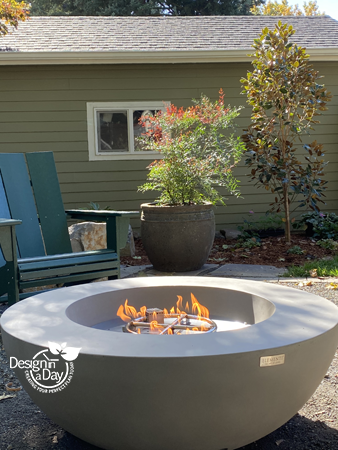 Modern Style Gas Fire Pit Table is perfect for downsized baby boomer back yard