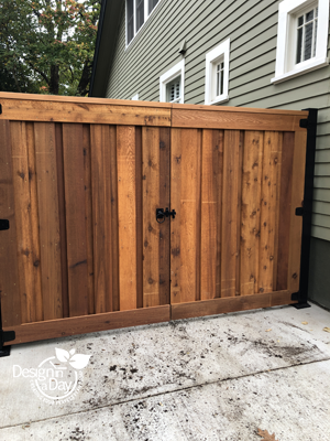 Cedar Gate is relocated to add utility space to Irvington Side Yard