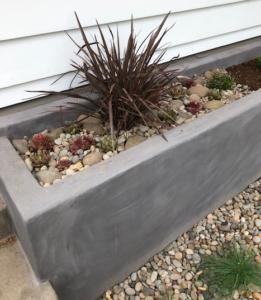 Modern update of landscape planter.