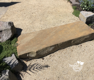 Hardscape landscaping stone step and decomposed granite path in Grant Park