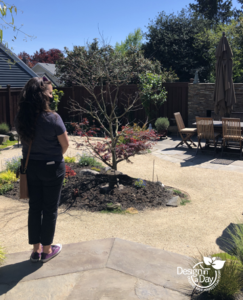 Portland Oregon residential landscape design with Irvington neighborhood client.