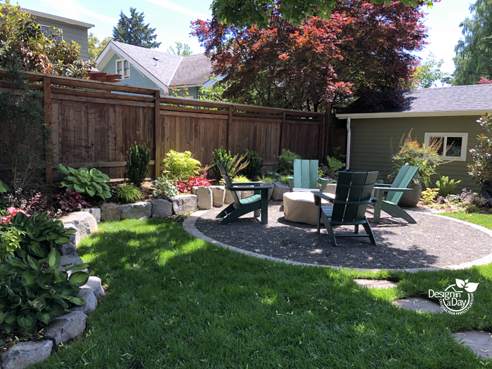 This NE Portland backyard was updated for retiring baby boomers