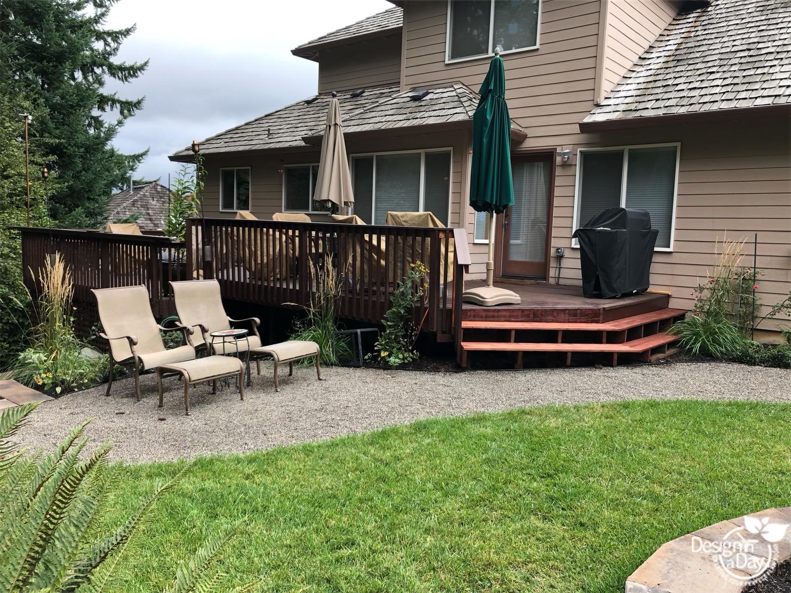 Portland backyard invites clients to garden to watch birds.