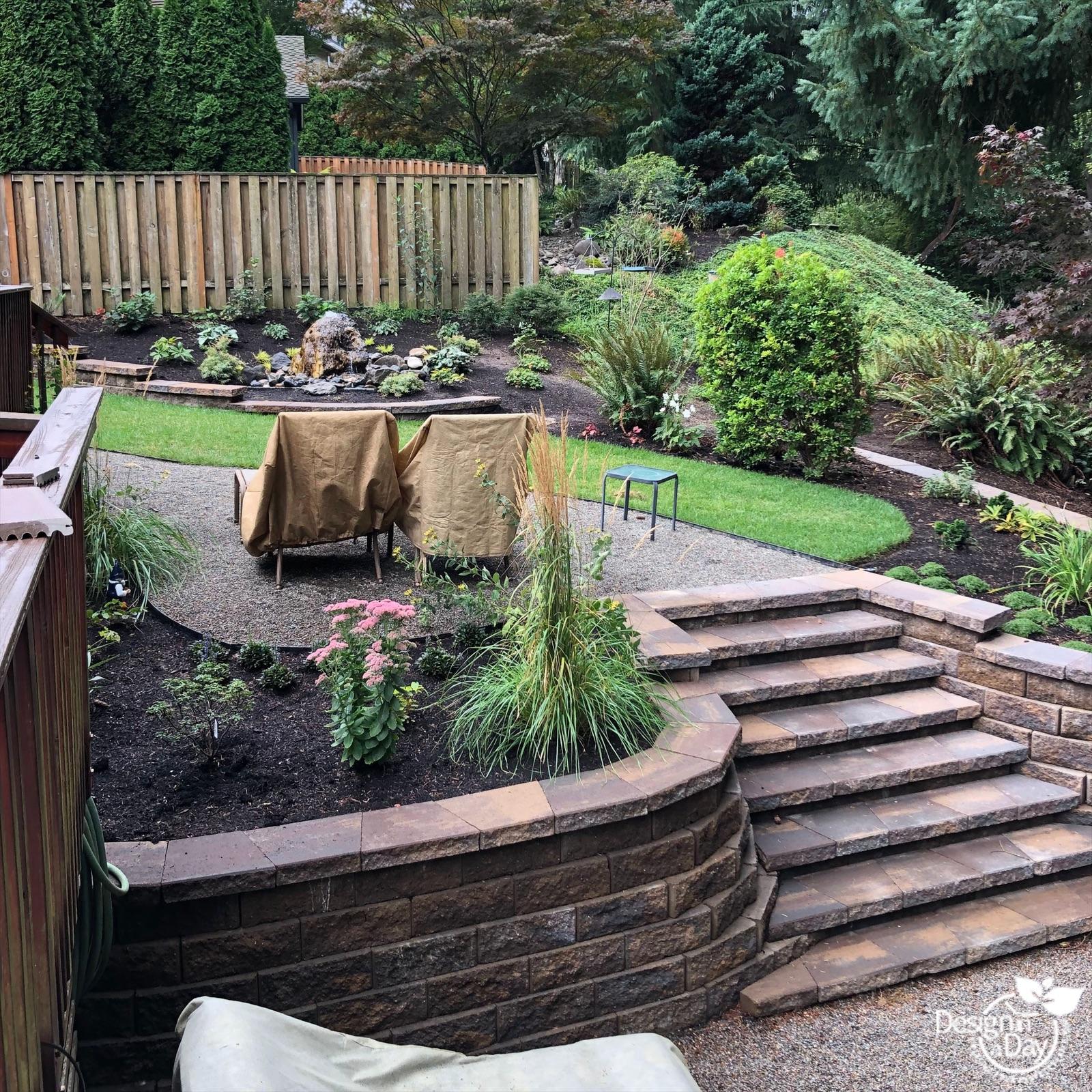 Portland backyard gardening for birds.