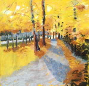 autumn leaf paintings