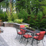 Patio Modern hardscape landscape design Northwest Portland