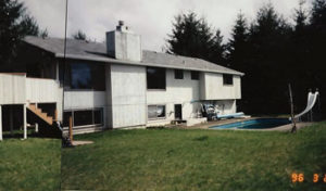 Morris before back yard landscape design 1996