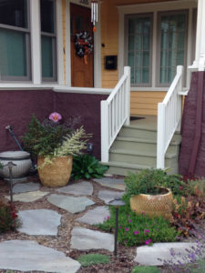 Rose City Park Portland Oregon bungalow flagstone path