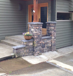 Porch stone work DIY