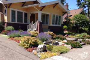 Rose City Park neighborhood of Portland, Residential Landscape design for bungalow