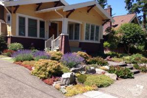 Rose City Park neighborhood of Portland, Residential Landscape design for bungalow