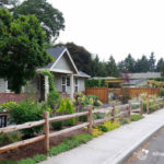 Front yard landscape design, after. Milwaukie, Oregon