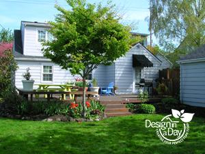 Portland residential landscape design  in Woodstock