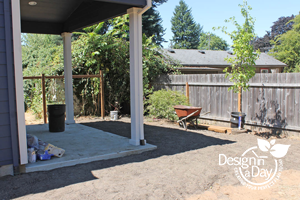 Portland Residential Landscape Design Woodstock neighborhood before back yard landscape design