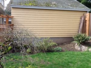 Soil areas next to old garages often have higher lead levels.