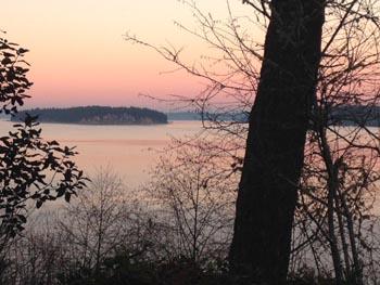 Sunset and Heron Island