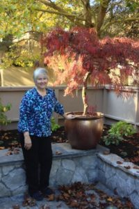 Blog pic Knight in her new courtyard garden Photo Oct 18, 10 30 35 AM