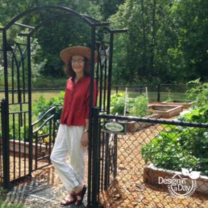 Portland landscape designer in edibles garden